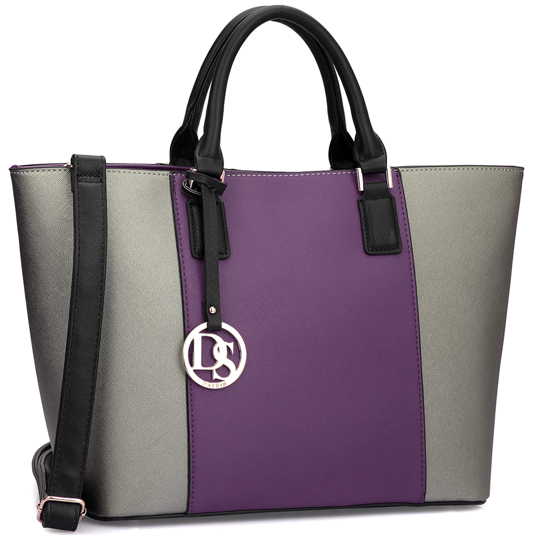 Dasein® Colorblock Medium Classic Tote Bag