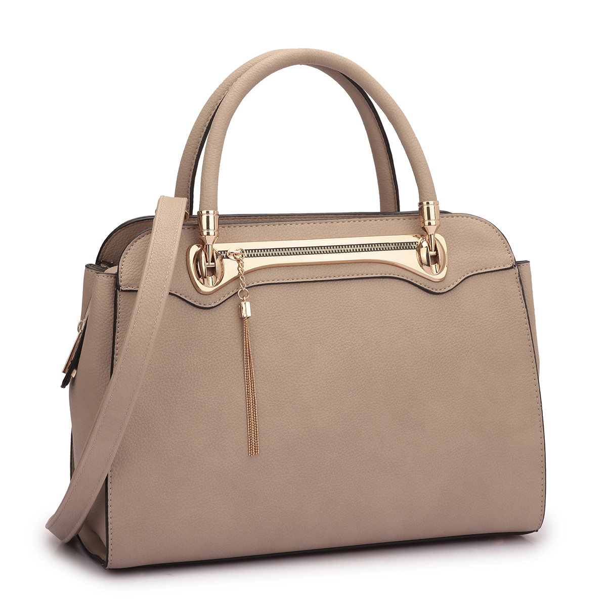 Dasein Fashion Gold Tone Satchel