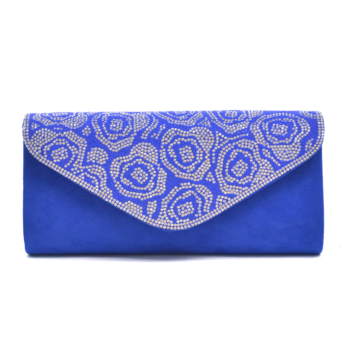 Glitter Mini Rhinestones Evening Clutch  in a Floral Pattern Design