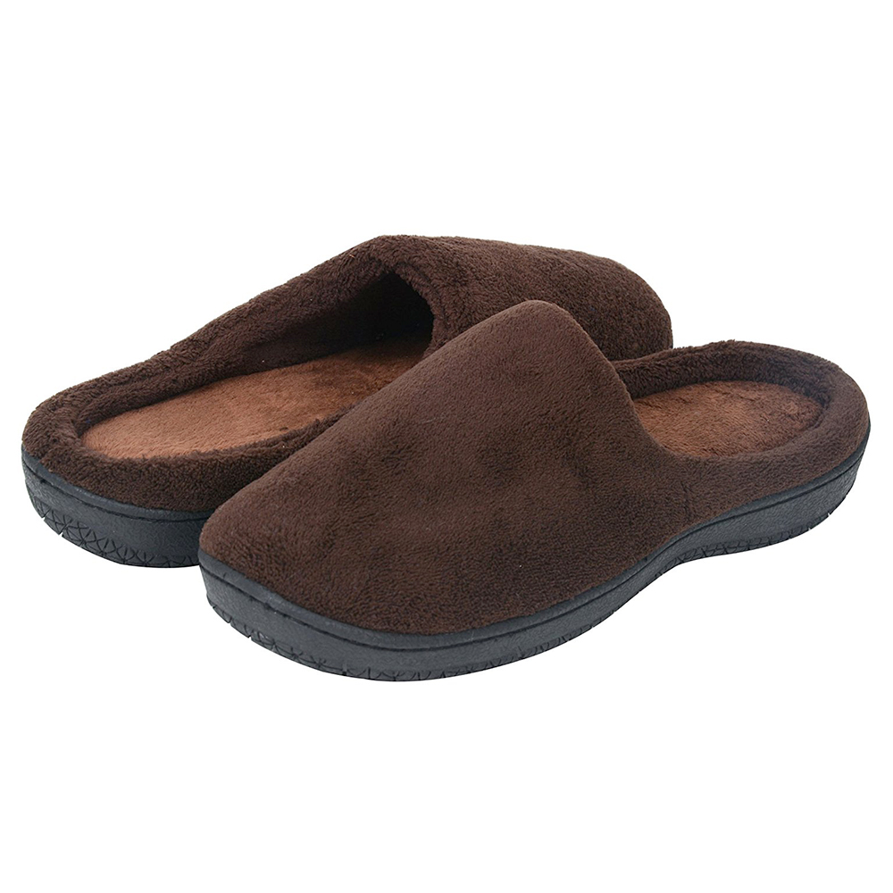 Men's Micro Suede Faux Fur Lined Slip On Clog House Slippers