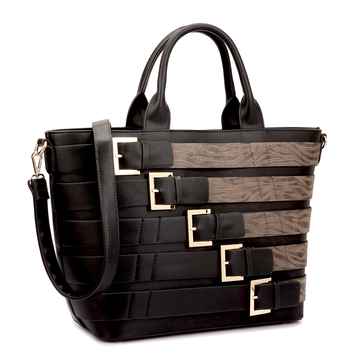 Medium Tote with Buckle Details