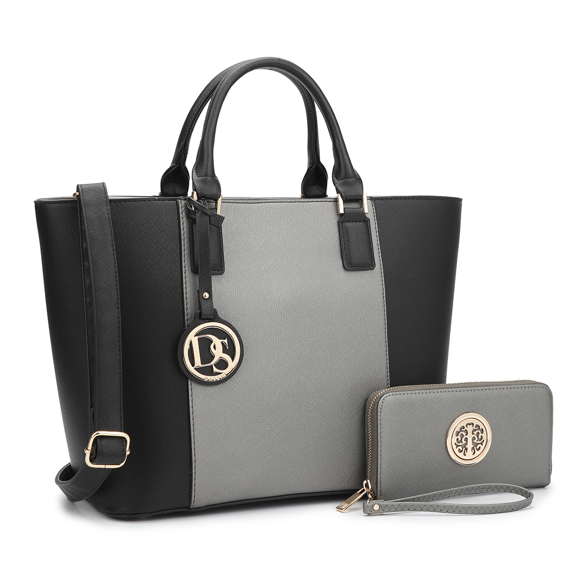 Dasein Medium Classic Satchel with Matching wallet