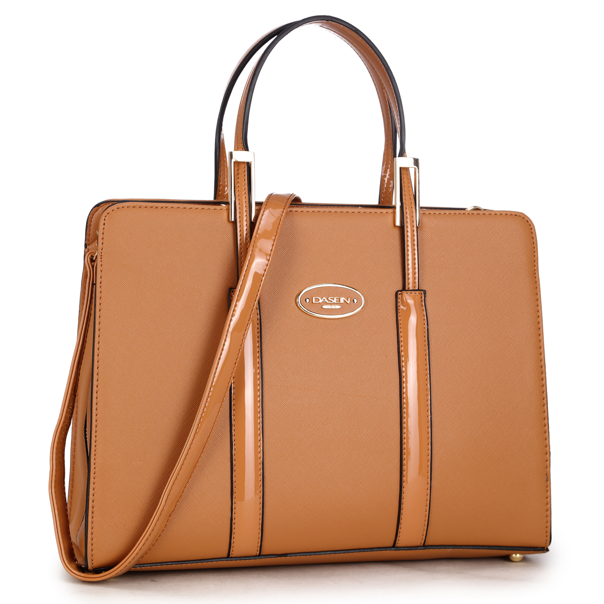Dasein Zip Around Logo Briefcase Tote