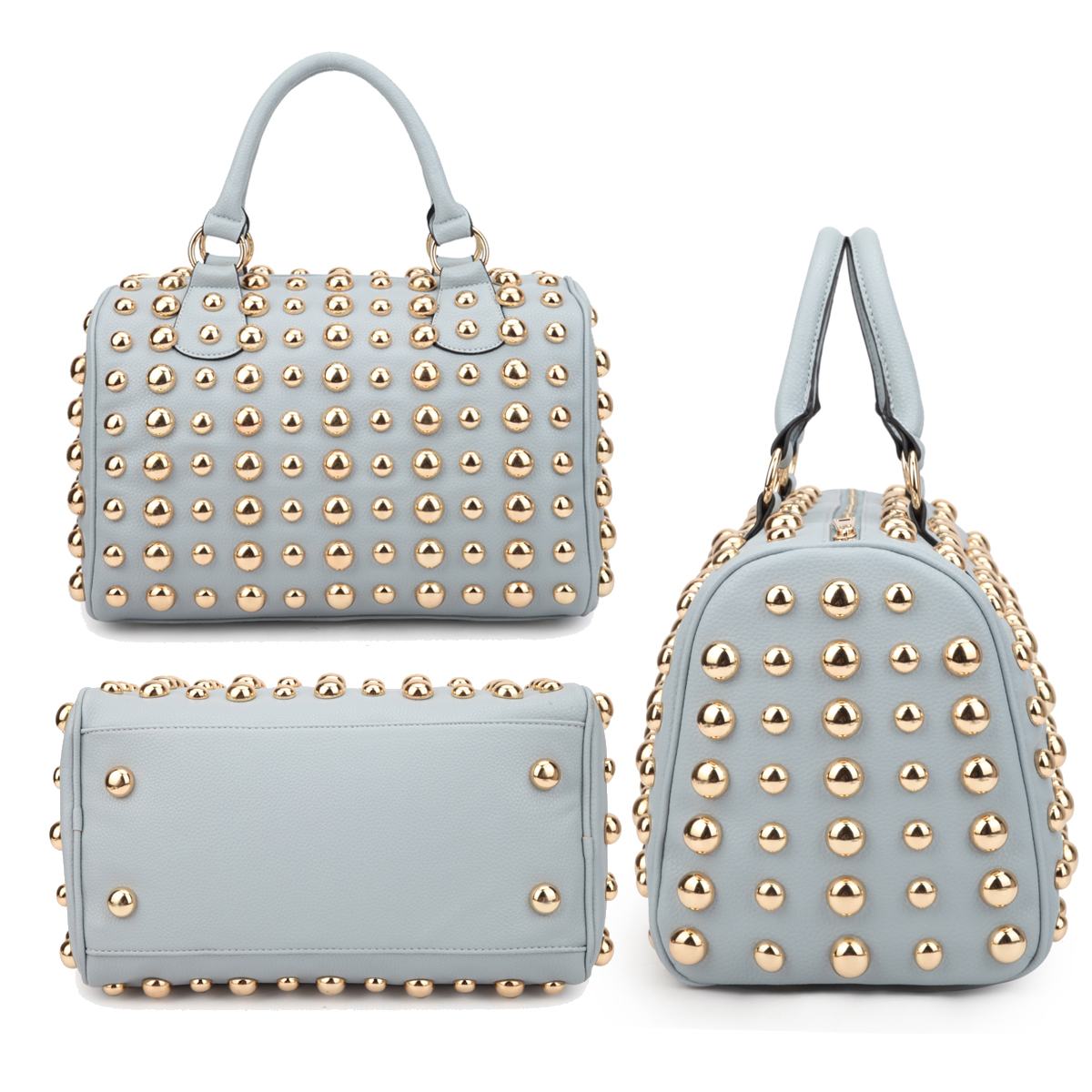 Dasein® Bling Studded Barrel Body Satchel