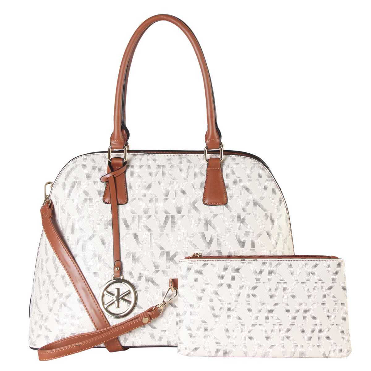 Monogram Dome Shaped Medium Satchel with Matching wristlet