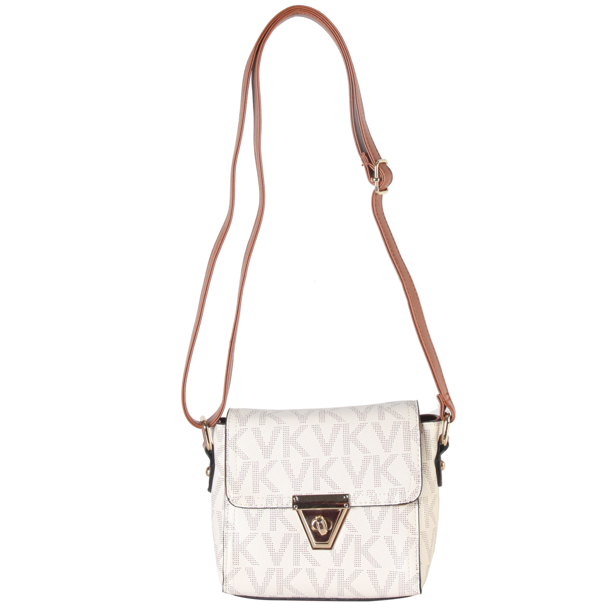 Monogram logo Front flap twist lock Messenger/crossbody Bag