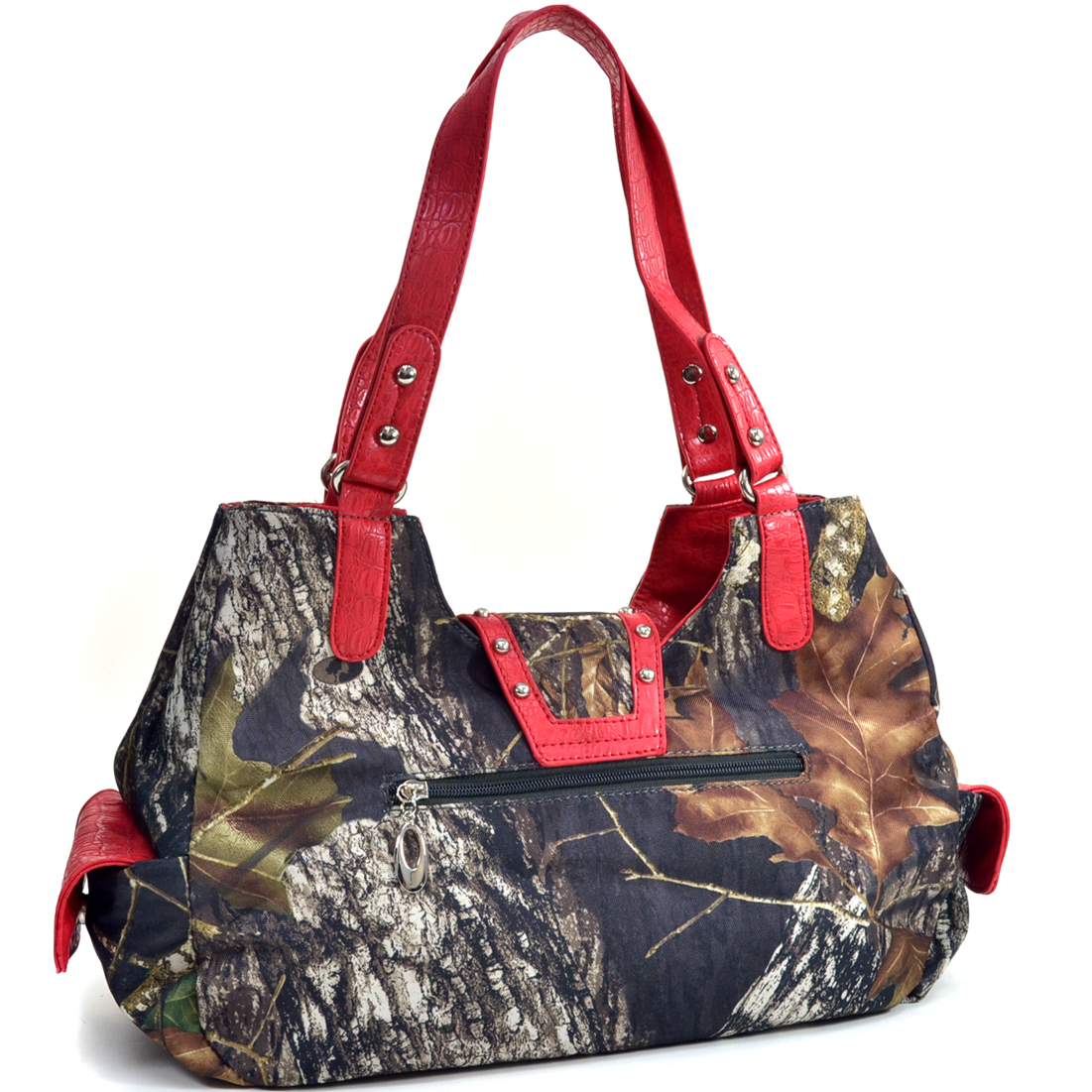 Mossy Oak® Studded Camouflage Shoulder Bag w/ Rhinestone Buckle