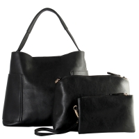 3-in-1 Fashion Hobo with Matching Organizer Bag and Wristlet