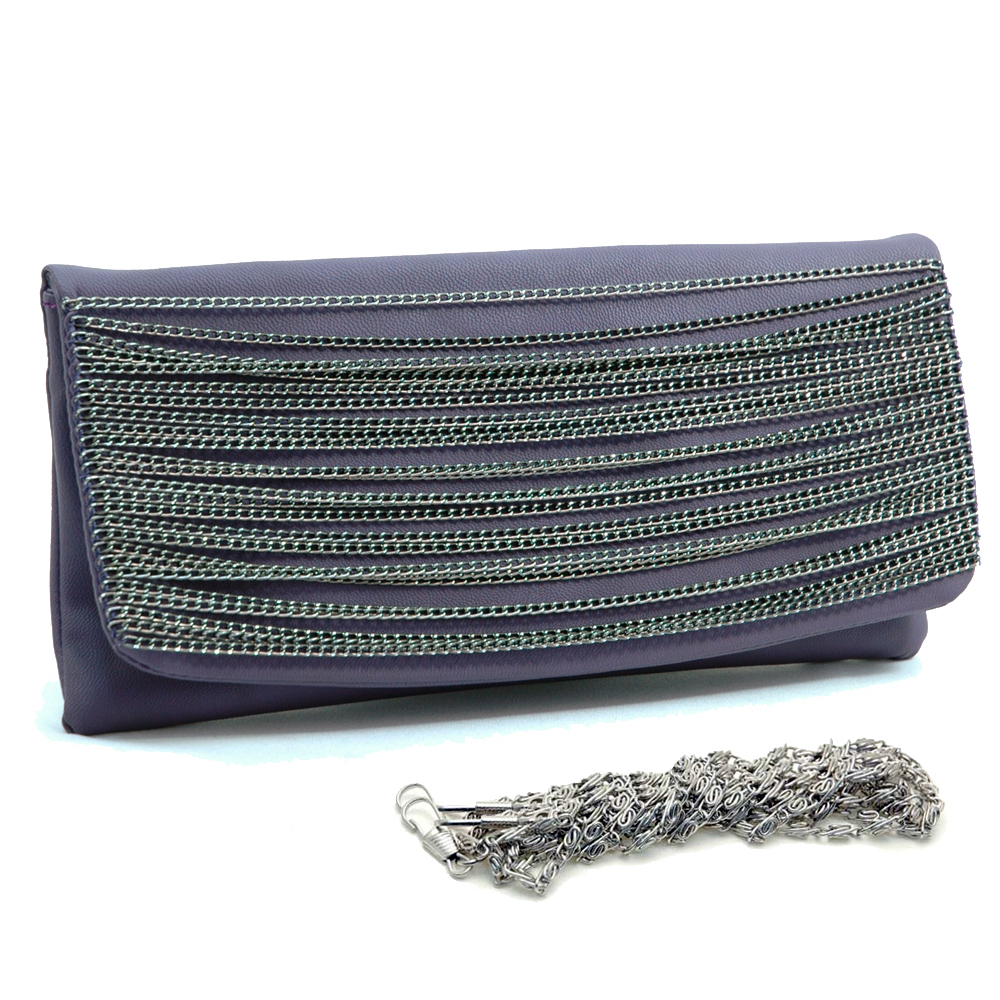 Dasein chain flap clutch purse Top Flap