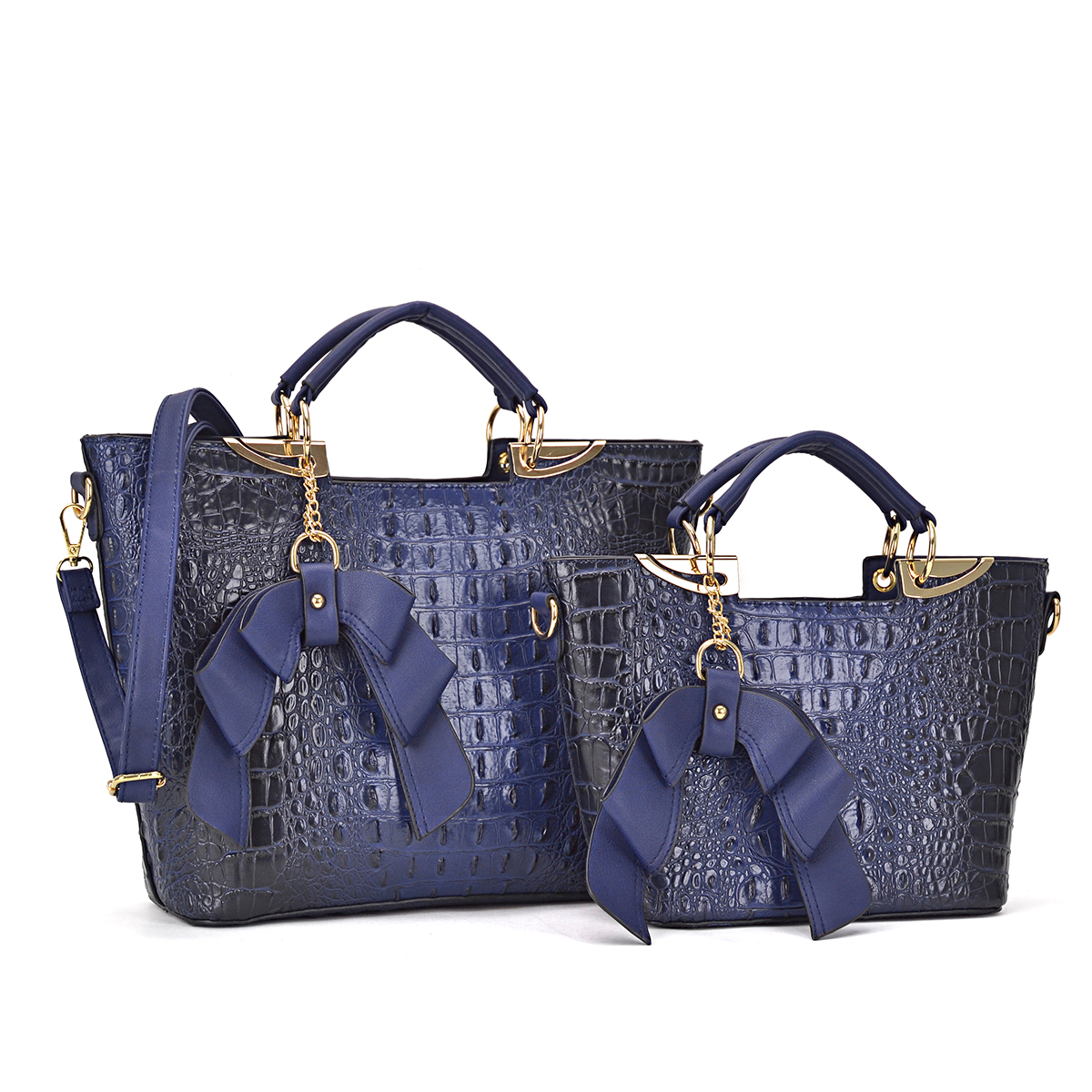 2-in-1, Bag-in-a-bag, Croco Ostrich Medium Satchel